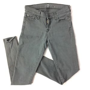 7 FOR ALL MANKIND THE SKINNY MIDRISE JEANS JEGGING